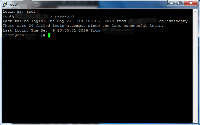 登陆Linux成功